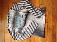 T-Shirt OKAIDI Gris ChinéBleu Rayé Bleu Marine Taille 14 Ans Manches Longues