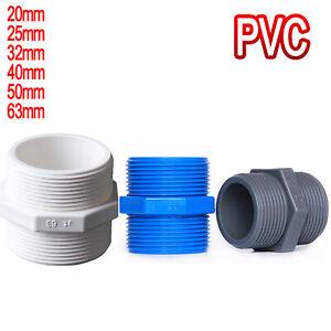 PVC Nipple BSP Male Threaded Pressure Fittings Water Pipe Fitting ID 20mm ~ 63mm