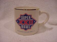 Beautiful 1988 Super Bowl Xxii Coffee Mug, Washington Redskins, Mint!