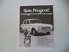 advertising Pubblicità 1972 PEUGEOT 204