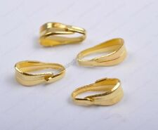 200pcs Gold plated Metal Pendant Connectors Bails Craft Findings