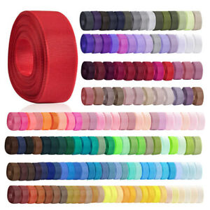 10 Meters Grosgrain Ribbon 6/10/15/20/25/38mm Wedding Craft Decoration 40Colours