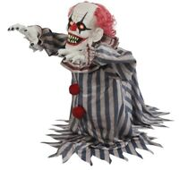 Jumping Clown Prop Animated Lunging Haunted House Halloween Decoration