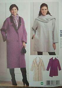 Kwik Sew Kersten Martensson Winter Coat Sewing Pattern 3739 Multi-size UNCUT