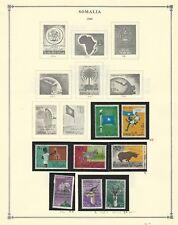 Somalia Colección 1950-1962 en 9 Scott International Páginas