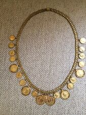 Vintage Miriam Haskell Coin Necklace