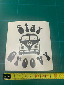 1 'groovy' vehicle sticker selfadhesive  you choose the colour a6size free P&P