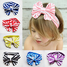 Children Headwears Elastic Cloth Bowknot Shaped Baby Girls Headbands
