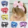 Children Headwears Elastic Cloth Bowknot Shaped Baby Girls Headbands