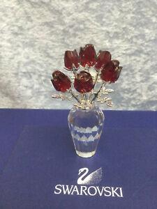 Swarovski Crystal Red Roses - 9448000026 / 627098. Retired 2013. MIB