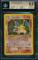 BGS 9.5 CHARIZARD 2000 Pokemon Game Base 2 Unlimited #4/130 Holo RARE GEM MINT