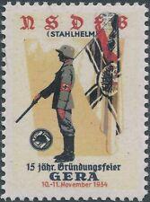 Stamp Replica Label Germany 0081 WWII 1934 Stahlhelm Gera War Wehrmacht MNH