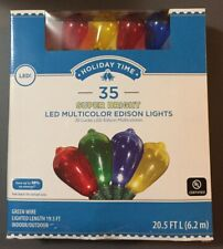"35 Super Bright Transparent LED Multi-Color ""Edison Style"" Lights ~19.5' Lighted"