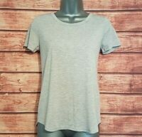 M&S COLLECTION Size 8 Top GREY Tee T Shirt Casual Stretch VGC Women's Ladies