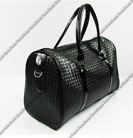 Mens Black Large Capacity Gym Sports Bag Travel Work Leisure Shoulder Bag