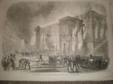Burning of Covent Garden Theatre London 1856 print ref AT