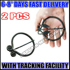 Celtic Spiral Penannular Brooch - Medieval Cloak Pin, Set Of 2 Pcs MK 2052 hj1