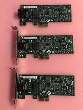 Lot of 3 Intel Gigabit 1-Port Pcie Ethernet Network Interface Card Expi9301Ctblk