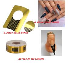 500 CARTINE PER UNGHIA RICOSTRUZIONE ALLUNGAMENTO NAIL ART ROTOLO CARTINE GEL