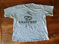 vtg ARIZONA DIAMONDBACKS baseball men's t shirt XL 2001 WORLD SERIES CHAMPS MLB