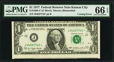 SuperNice & Scarce Series 1977 Fr-1909-J* $1.00 Star Note Miscut Error!