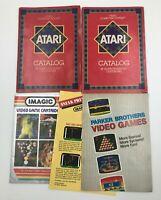 Lot of 4 Atari 2600 Catalogs - 45, 49 Game, Imagic, Parker Brothers -Video Games
