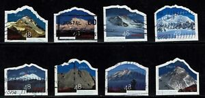 Set of Year of Mountains Used Canada Stamps from 2002