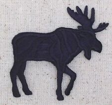 Moose - Black Silhouette Right/LARGE/Hunting Iron on Applique/Embroidered Patch