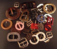 30 VINTAGE FASHION BUCKLES
