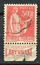 TIMBRE FRANCE  N° 283  OBL  PUBLICITAIRE  TYPE PAIX