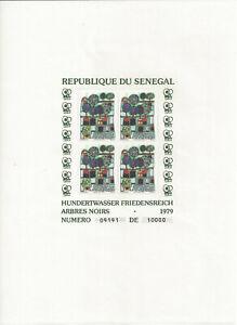 SENEGAL - BLOCS 18 à 20 - TABLEAUX de HUNDERTWASSER - NEUFS SANS CHARNIERE
