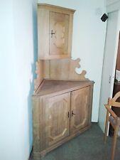 Eckschrank Eiche massiv Antik Echtholz Schrank