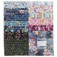 "Fleur Couture Digiprint RJR Fabric 42 10"" Squares Patty Cake Layer Cake"