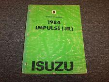 1984 Isuzu Impulse Sports Coupe Workshop Shop Service Repair Manual Book Turbo