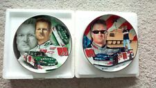 "TWO Dale Jr Collector's Plates- ""AMP Energy"" and ""National Guard"" NASCAR"