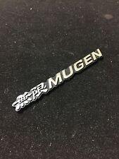 New Mugen Black Rear Side Chrome Emblem Badge Decal 3M Tape Honda Acura civic
