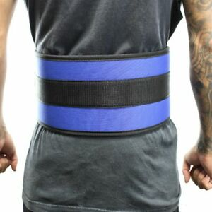 "6"" Nylon Power Weight Lifting Belt / Back Support Belt Blue, Med -"
