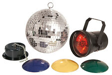 "8"" MIRROR BALL, PINSPOT 70's STYLE GLAM DISCO DANCE & BALLROOM LIGHTING 151.720"
