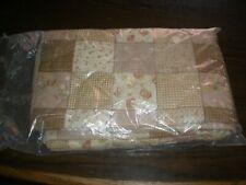 NEW Tan/Beige/Pink Multipattern Quilt (H)