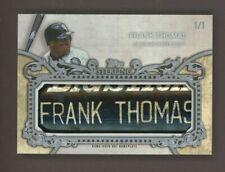 2020 Topps Sterling Frank Thomas HOF GU Bat Knob Barrell 1/1 Chicago White Sox