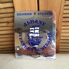 VINTAGE 'Albany' WESTERN Australia METALLIC Silver SOUVENIR Sticker DECAL