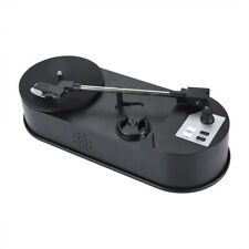 USB Portable Vinyl Turntable Record Player Converter 33/45RPM LP to MP3 WAV SD