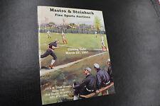1997 Mastro Fine Sport Auction Catalog March 27, 1997