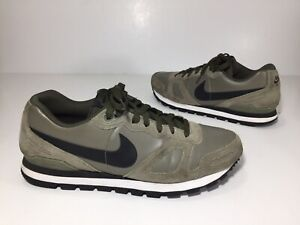 """""""RARE"""" Nike Men's 11.5 AIR WAFFLE TRAINER Suede Leather Green Black 454395-301"""