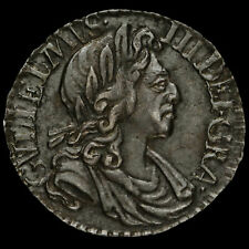 More details for 1701 william iii early milled silver maundy penny, scarce