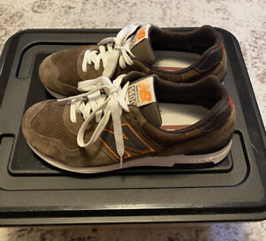New Balance 1400 Made In USA Size: 10 Color: Olive/Orange/White