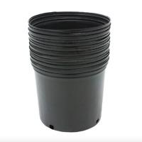 Plastic Nursery Pot 10 Pack Pots 3 Gallon Flower Outdoor Plant Garden Planter