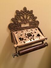 Genuine Brass Victorian Loo Roll Holder