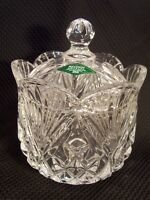 SHANNON CRYSTAL DESIGNS OF IRELAND LEAD CRYSTAL COVERED CANDY DISH, SLOVAKIA