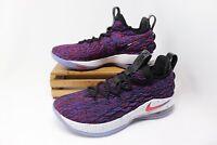 Nike Lebron XV Low Basketball Shoes Supernova Red Blue  AO1755-900 Men's NEW
